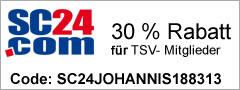 30% Rabatt für Tennis-Mitglieder bei SC24.com